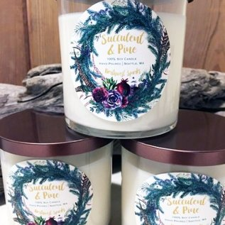 Northwest Sparks Succulent & Pine Candle