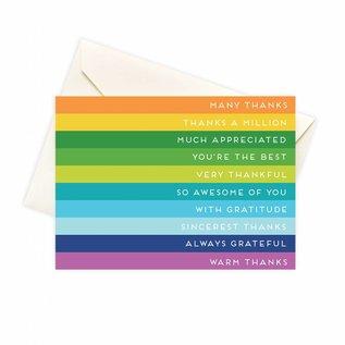 Seltzer Rainbow Stripes Thank You Notes