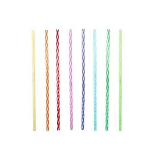 Kikkerland Design Inc Rainbow Reusable Straws