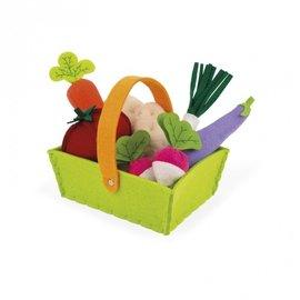 Janod Toys Felt Veggie Basket