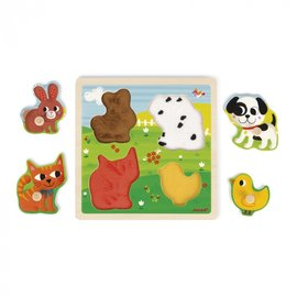 Janod Toys My First Animals Tactile Puzzle