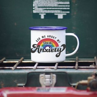 Enamel Co. Social Anxiety Enamel Mug