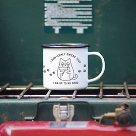 Enamel Co. Mischief Meownaged Enamel Mug