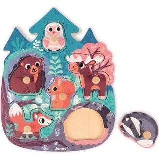 Janod Toys Happy Forest Puzzle