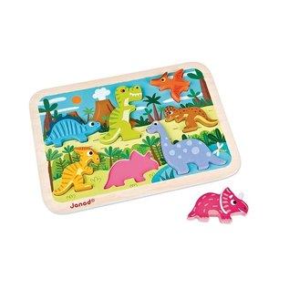 Janod Toys Dinosaurs Chunky Puzzle