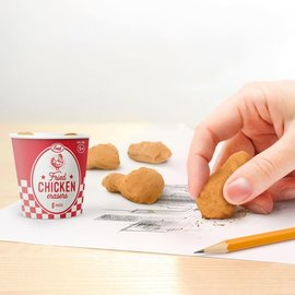 Fred Fried Chicken Erasers