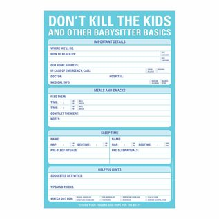 Knock Knock Don't Kill the Kids Notepad