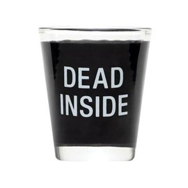 About Face Dead Inside Shot Glass