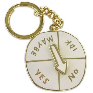 Chronicle Books Indecisive Spinner Keychain