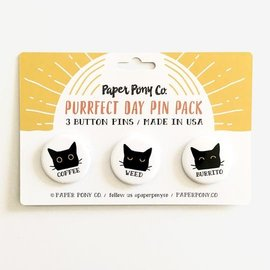 Paper Pony Co. Coffee Weed Burrito Pin Set