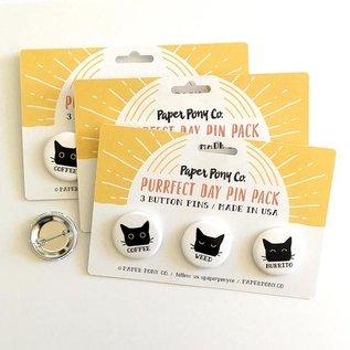 Paper Pony Co. Coffee Weed Burrito Pin Set