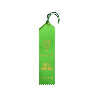 Boldfaced Goods Award Ribbon - Ate a Vegetable