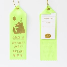 Yellow Owl Workshop Party Animal Ribbon Note
