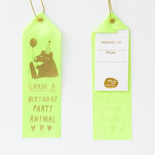 Yellow Owl Workshop Ribbon Note - Party Animal
