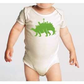 Orange Twist Seattlesaurus Onesie