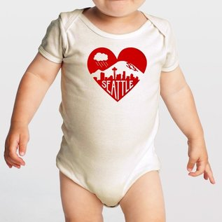Orange Twist Seattle Red Heart Onesie