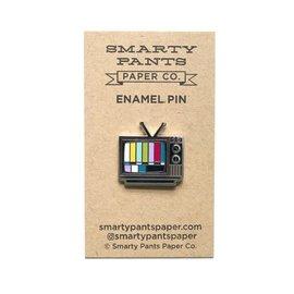 Smarty Pants Paper TV Enamel Pin