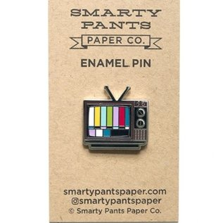 Smarty Pants Paper TV Enamel Pin