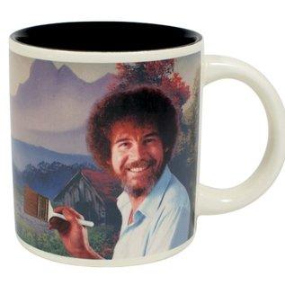 Unemployed Philosophers Guild Bob Ross Self-Painting Mug