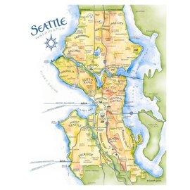 Elizabeth Person Seattle Map Print