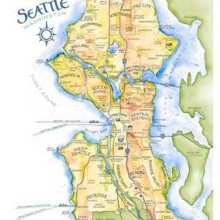Elizabeth Person Seattle Map Print