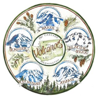 Elizabeth Person Volcanoes of Washington Print