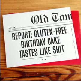 Old Tom Foolery Birthday Card - Gluten-Free