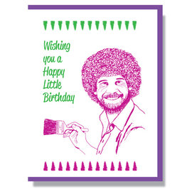 Smitten Kitten Birthday Card - Bob Ross