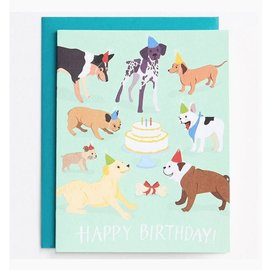 Waste Not Paper Birthday Card - Dog Party