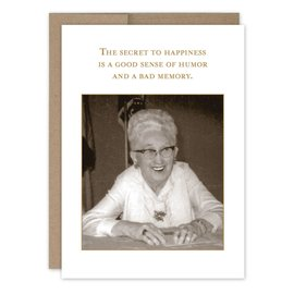 Shannon Martin Birthday Card - Secret To Happiness