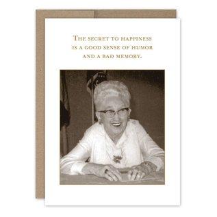 Shannon Martin Birthday Card - Secret To Happiness