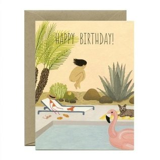 Yeppie Paper Birthday Card - Birthday Suit Cannonball