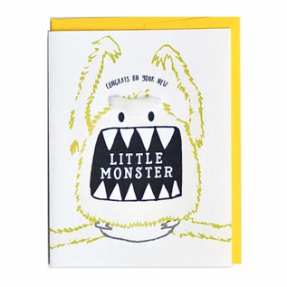 Cracked Designs Baby Card - Little Monster