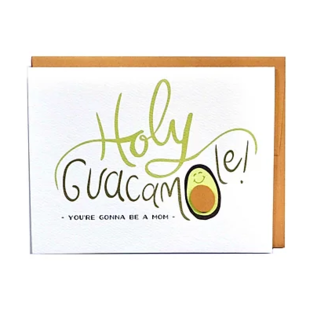 Cracked Designs Baby Card - Holy Guacamole
