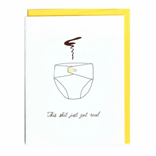 Cracked Designs Baby Card - This Shit Just Got Real