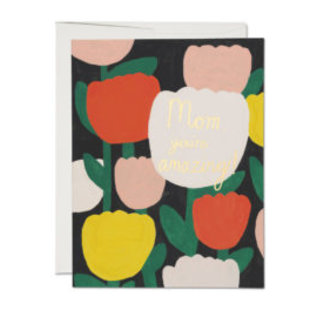 Red Cap Cards Mother's Day - Amazing Tulips