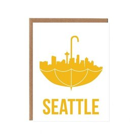 Orange Twist Greeting Card - Seattle Umbrella