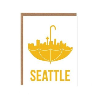 Orange Twist Greeting Card - Seattle Umbrella