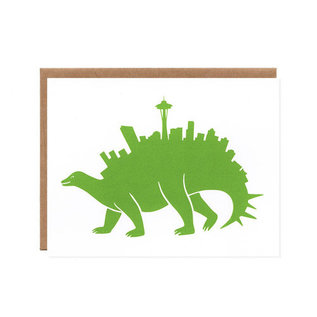 Orange Twist Greeting Card - Seattlesaurus