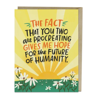 Em and Friends Baby Card - Future of Humanity