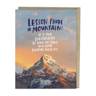 Em and Friends Greeting Card - Lesson From A Mountain