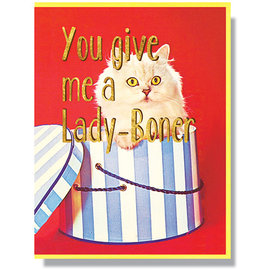 Smitten Kitten Love Card - Lady Boner