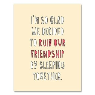 Near Modern Disaster Love Card - Ruin Our Friendship