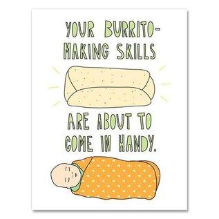 Near Modern Disaster Baby Card - Burrito