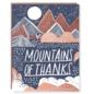 Hello Lucky / Egg Press Thank You Card - Mountains