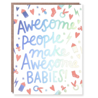 Hello Lucky / Egg Press Baby Card - Awesome People