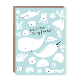 Hello Lucky / Egg Press Baby Card - Tiny Friend
