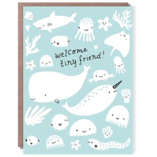 Hello Lucky / Egg Press Baby Card - Tiny Friend