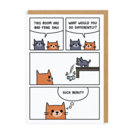 Ohh Deer Greeting Card - Bad Feng Shui