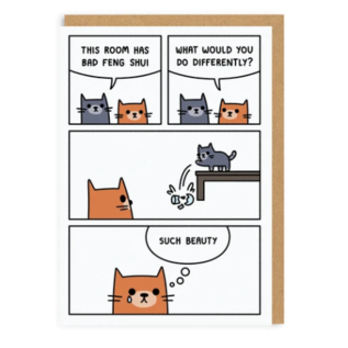 Ohh Deer Greeting Card - Bad Feng Shui